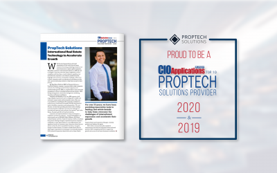 PropTech Solutions Recognized as a 2020 Top 10 PropTech Solutions Provider
