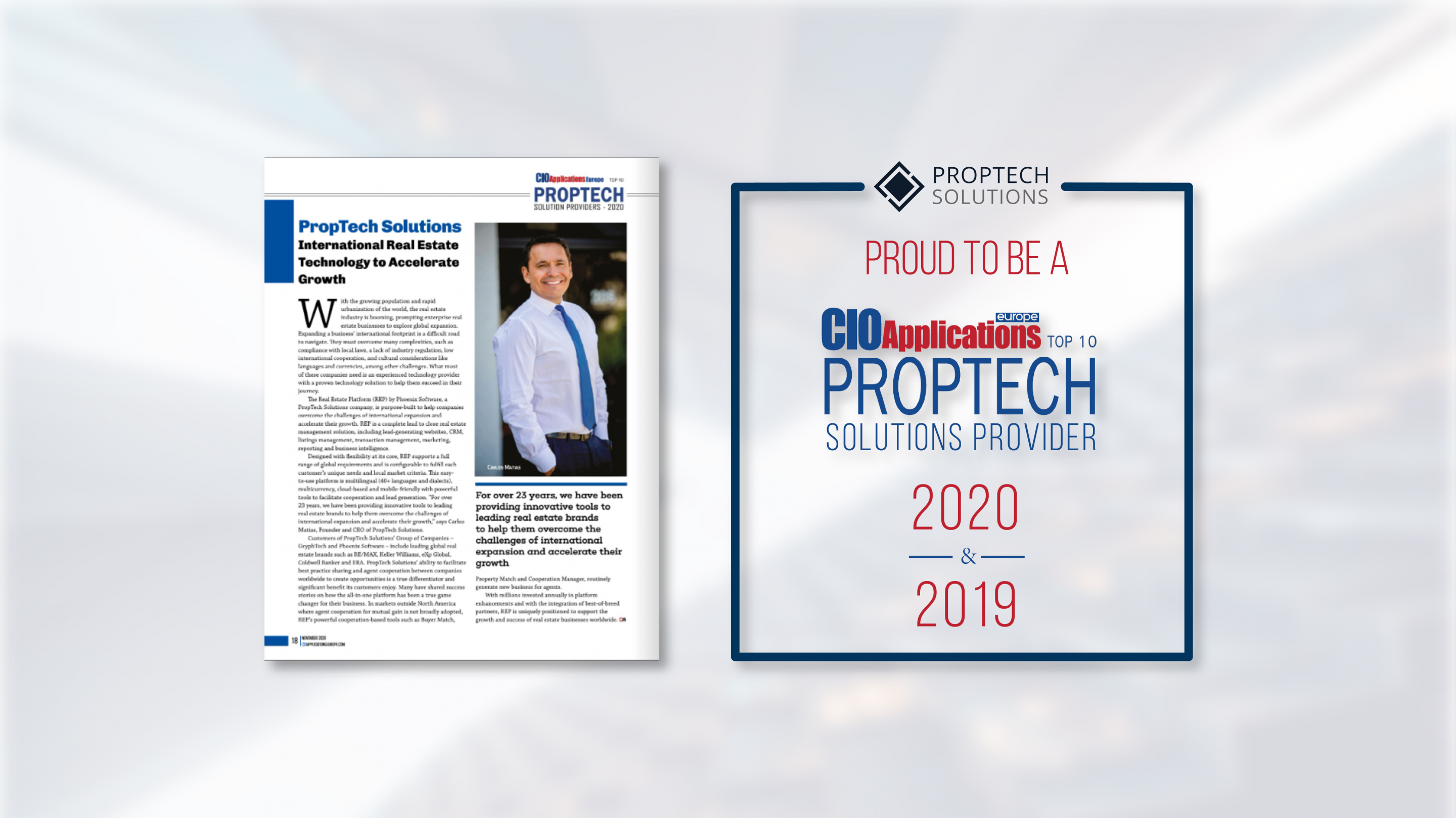 PropTech Part of CIO Applications Europe's Top 10 PropTech Solutions Provider